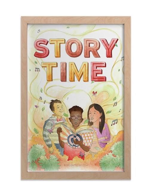 Storytime print 2 https://etsy.me/2OSfB2x #storytime #literacy #reading #read #art #arte #artOfRober...