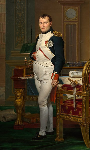 Portrait of The Emperor Napoleon in His Study at the Tuileries by Jacques-Louis David 1812