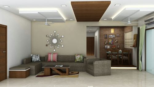 Residential Interior Services - Drawing Room Interior ...