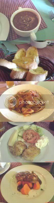 Pezintine set lunch main courses
