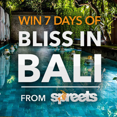 Win 7 days of bliss in Bali from Spreets