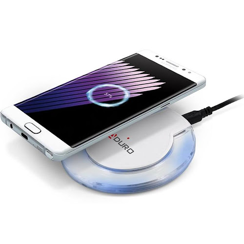 Aduro Ultra Slim iPhone x / 8 / 8 Plus Wireless Charger Charging Pad for All Qi Enabled Devices Samsung S8 / Plus / S7 / S7 Edge / Note 5 / S6 / S6