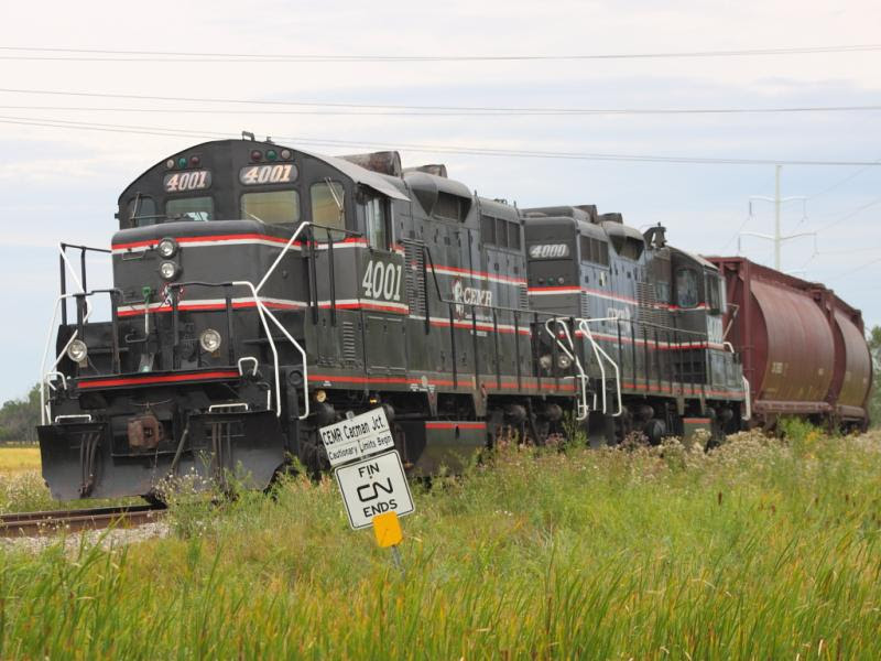 CEMR 4000 at Carman Junction in Winnipeg Manitoba