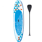 Banzai Inflatable SUP Stand Up Paddle Board with Adjustable Paddle & Backpack, Blue, 10'