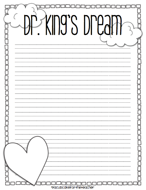 I Have A Dream Craftivity Printables For Mlk Jr A