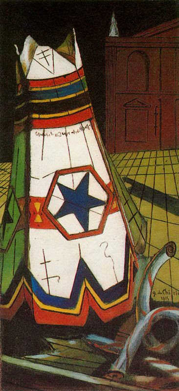 'Das Spielzeug des Prinzen', öl von Giorgio De Chirico (1888-1978, Greece)