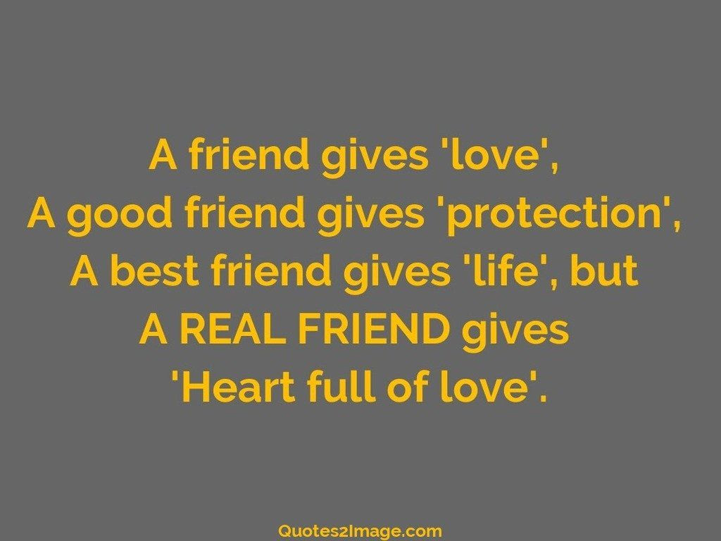 A friend gives love