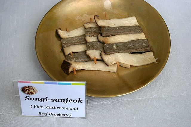 Songi-sanjeok - pine mushrooms and beef brochette