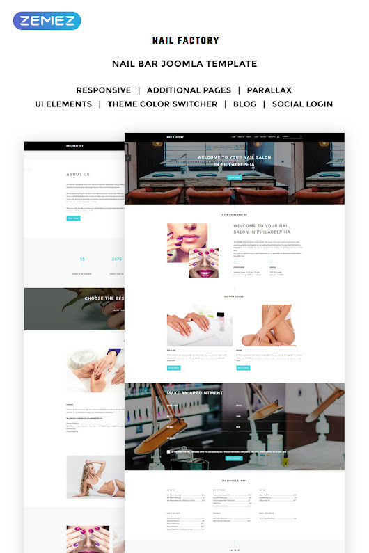 Nail Bar - Nail Salon Joomla Template - w3design.mobi