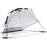 SlumberTrek Adventure 2 Portable Pop Up Outdoor Beach Sun Shelter Tent, Blue/Red by VM Express