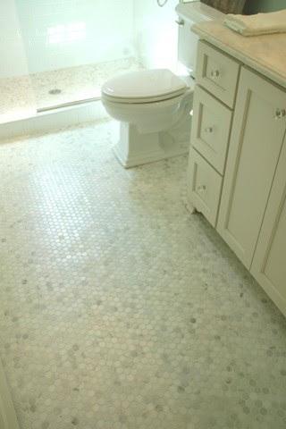 Hexagonal Carrera Marble tiles