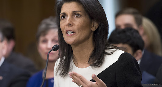 Nikki Haley confirmed as ambassador to United Nations
