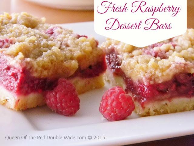 fresh raspberry dessert bars