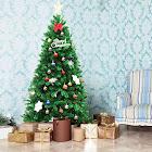 Gymax 6Ft PVC Artificial Christmas Tree Encryption Premium Hinged w/ Metal Stand Green