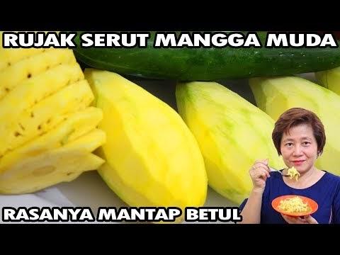 Resep Rujak Serut Mangga Muda Kuah Segar Plus Jambu & Bengkoang