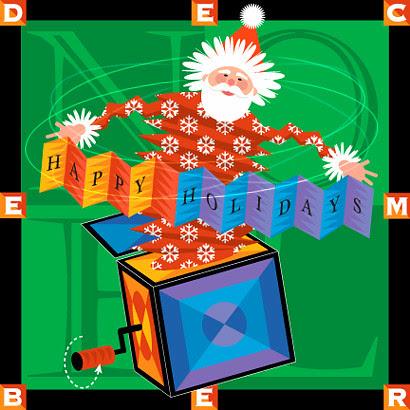 Illustration Friday - Santa In The Box