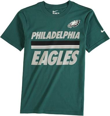 Philadelphia Eagles Nike Youth Team Stripe TShirt  Midnight Green  Fanatics.com