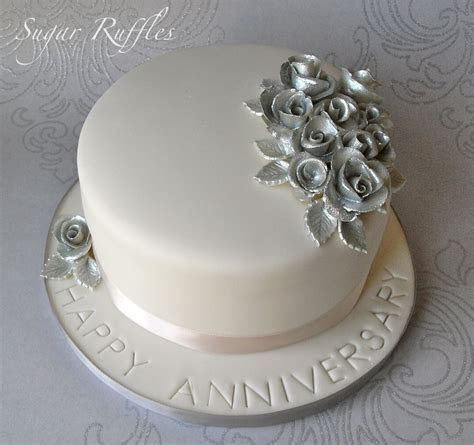 Silver Wedding Anniversary Cake   Flickr   Photo Sharing!