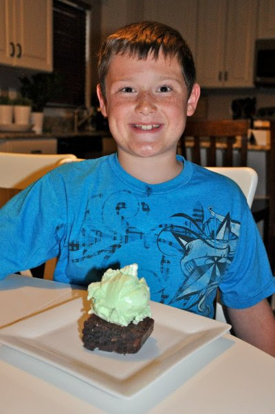 brownies and ice cream
