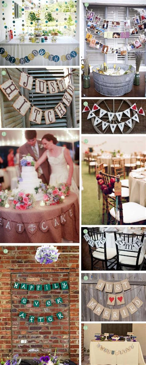 Finishing Touches: Creative Wedding Banners   Exquisite