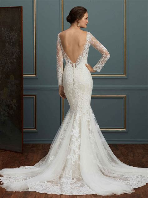 Style C115 Elodie : Long Sleeve Lace Wedding Dress / Blog