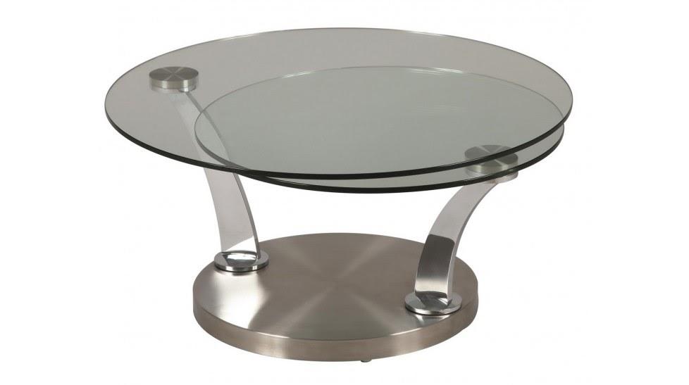 Table basse ronde plateau verr e acheter moins cher for Table ronde rallonge pas cher