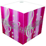Music Gifts TC05 Stripe Telephone Cube - Pink