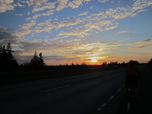 Howell Prairie Road sunset