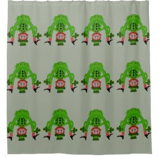 Funny Lucky Leprechauns Shower Curtain
