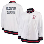 Boston Red Sox Majestic Women's Plus Size Full Zip Track Jacket - White Size:3XL