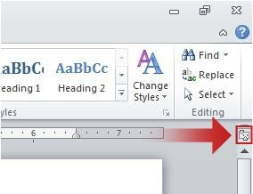 Microsoft Office Tutorials: Show or hide horizontal and vertical rulers