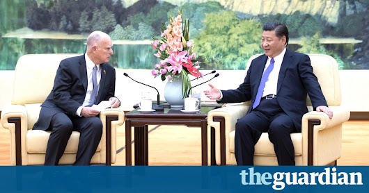 China and California sign deal to work on climate change without Trump | US news | The Guardian