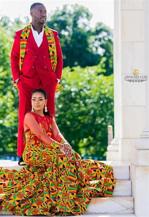 ghana wedding dress, kente style men and women fashion