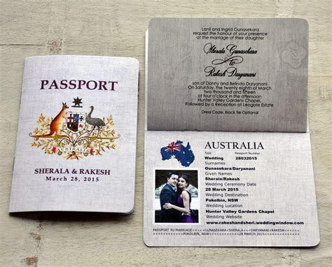 Passport Wedding Invitation Design Fee (Australian Emblem