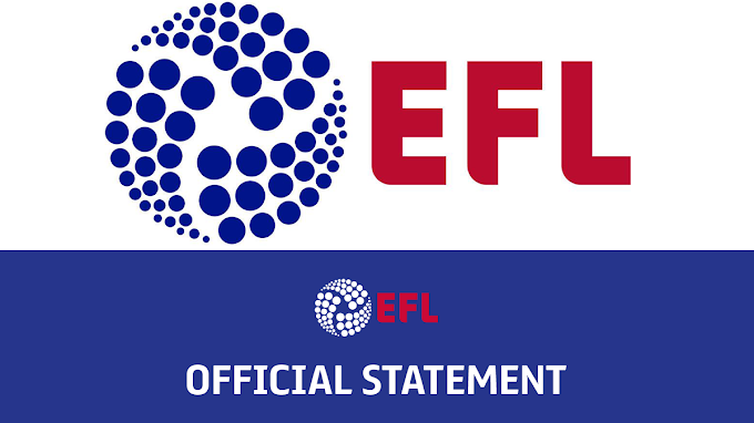 EFL Statement Confirms Latest Covid-19 Test Results