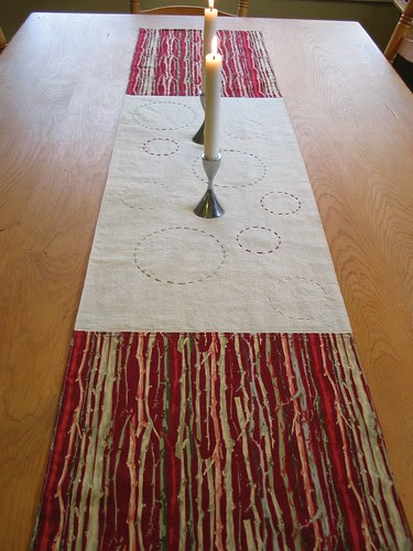 Holiday Table Runner by Poppyprint