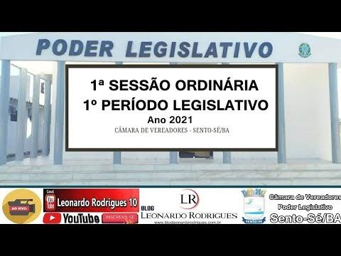 1ª SESSÃO ORDINÁRIA   1° PERÍODO LEGISLATIVO 2021 - CÂMARA DE VEREADORES