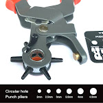 Leather Hole Punch Pliers 6 Size Rotating By Hill Leather Company
