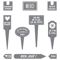 En ton honneur Clear-Mount Stamp Set (French) by Stampin' Up!