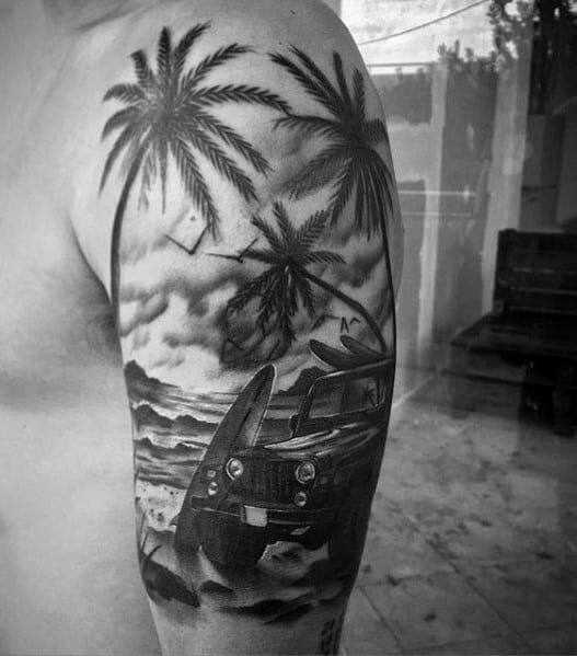 Jeep Themed Tattoo Ideas Para Homens