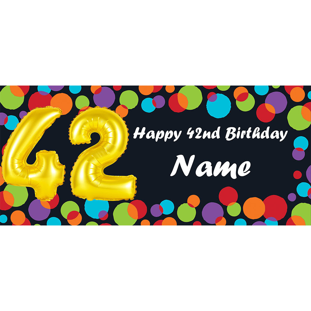 42 Happy Birthday Party Supplies Balloon 42nd Birthday Customized