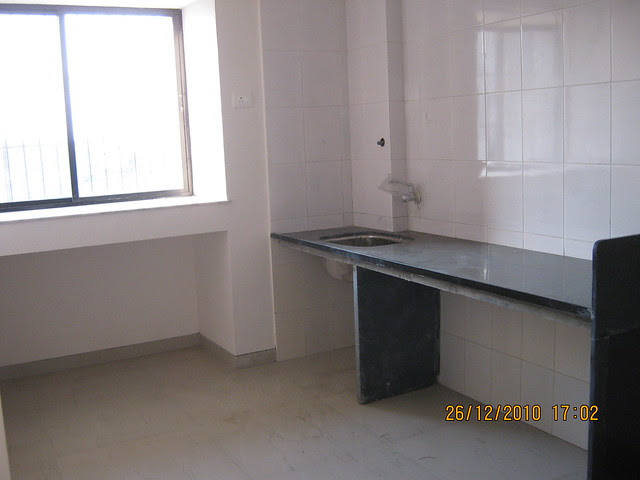 Kitchen in the 1 BHK Flat in Mahavir Natura, almost Ready for Possession 1 BHK & 2 BHK Flats at Talegaon MIDC Junction on Old Mumbai Pune Highway (NH4) at Vadgaon Maval, Pune 412 106