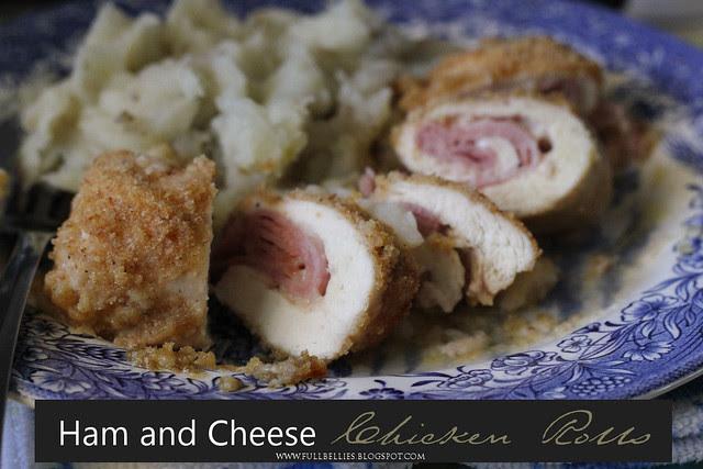 Ham and Cheese Chicken Rolls