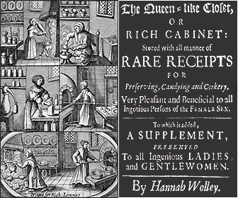Picture of Hannah Woolley Recipe Book