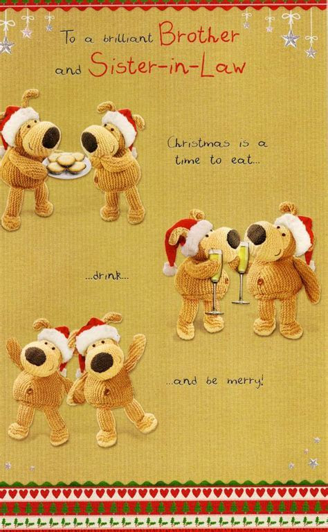 Boofle Brother & Sister in Law Christmas Card   Cards