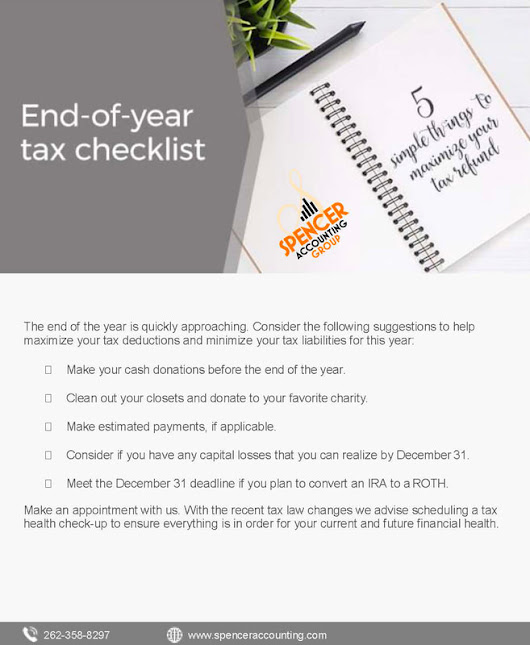 End of the Year Tax Checklist