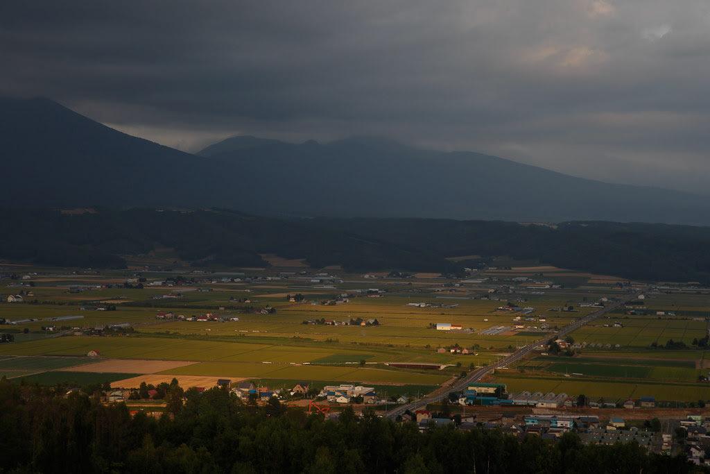 中富良野的黃昏