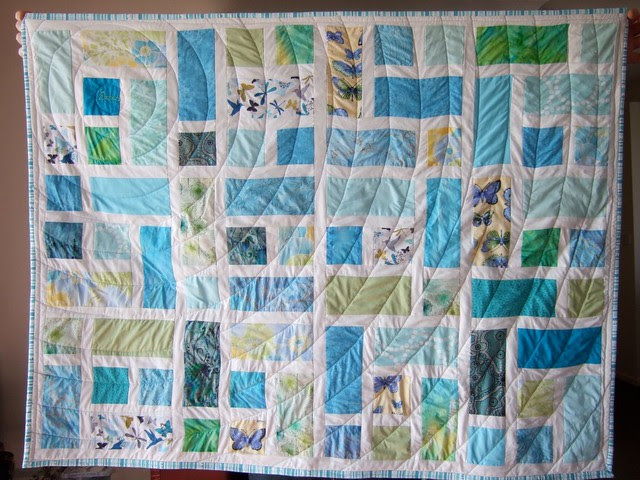 turquoise delights: orbits quilting