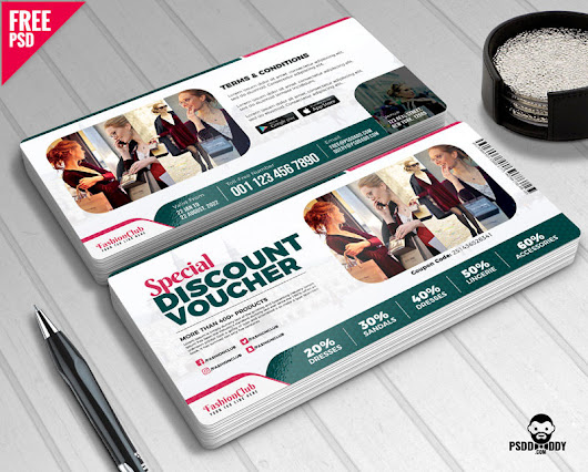 [Download] Special Discount Voucher Free PSD | PsdDaddy.com