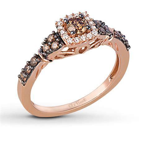 Le Vian Chocolate Diamonds 1/2 ct tw Ring 14K Strawberry